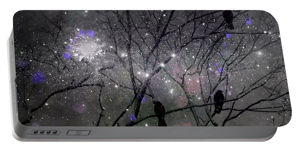 Dreamy Image Portable Battery Charger featuring the digital art It's A Crow Blitz by Gothicrow Images