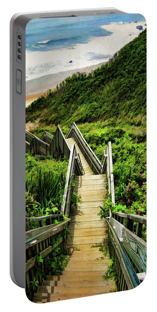 Block Island Portable Battery Charger featuring the photograph Block Island by Lourry Legarde