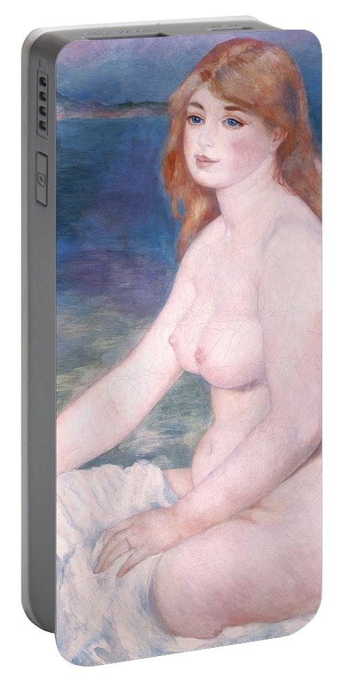 Bather Portable Battery Charger featuring the painting Blonde Bather II by Renoir