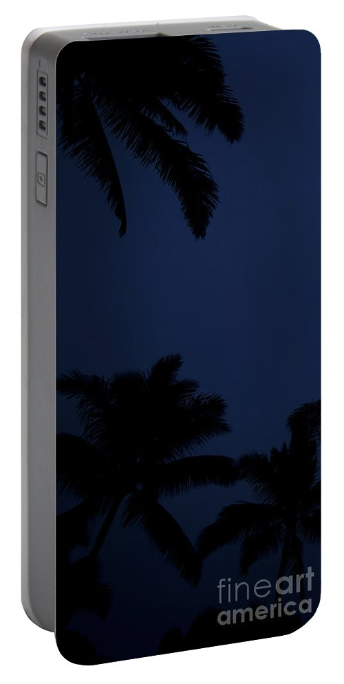 Palm Trees Portable Battery Charger featuring the photograph Blood Moon In Hawaii - Triptych  Part 1of 3 by Sean Davey