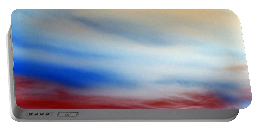 Heaven Portable Battery Charger featuring the photograph Bloody Clouds by Munir Alawi