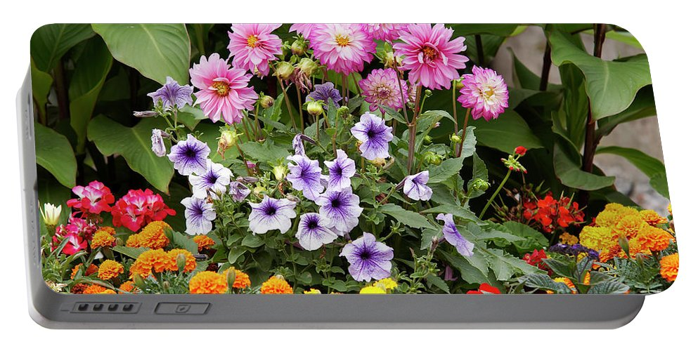 Bouquet Portable Battery Charger featuring the photograph Blossoming Flowers by Michal Boubin