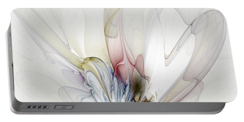 Digital Art Portable Battery Charger featuring the digital art Blow Away by Amanda Moore