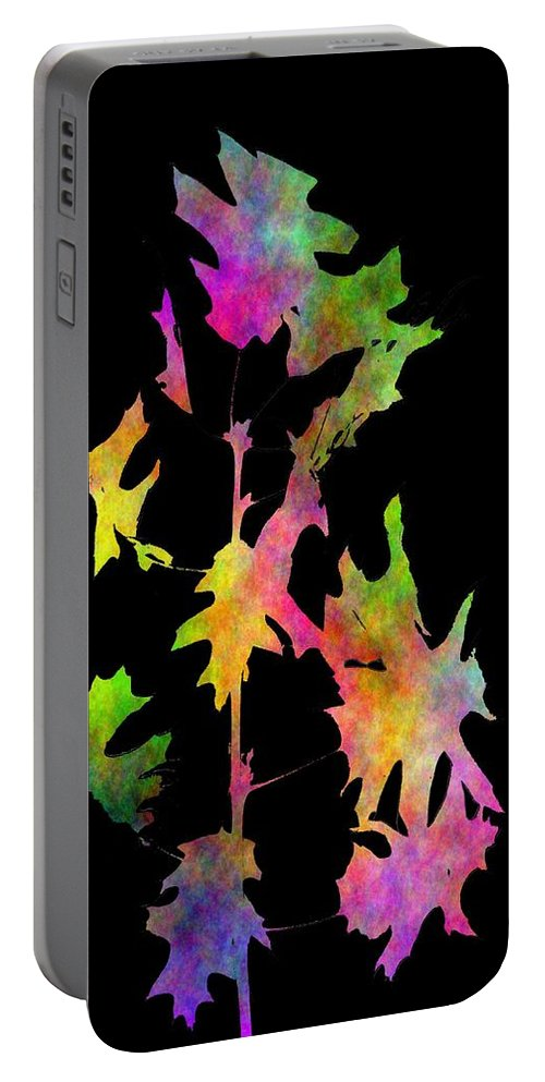Fall Portable Battery Charger featuring the digital art Blowin In The Wind 4 by Tim Allen