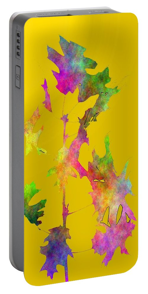 Fall Portable Battery Charger featuring the digital art Blowin In The Wind 5 by Tim Allen