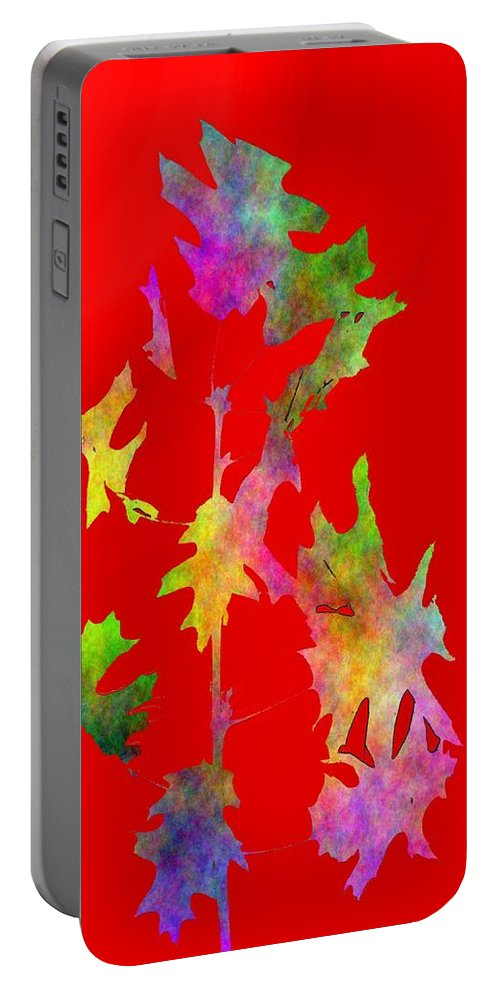 Fall Portable Battery Charger featuring the digital art Blowin In The Wind 6 by Tim Allen