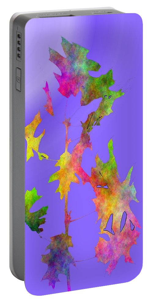 Fall Portable Battery Charger featuring the digital art Blowin In The Wind 7 by Tim Allen
