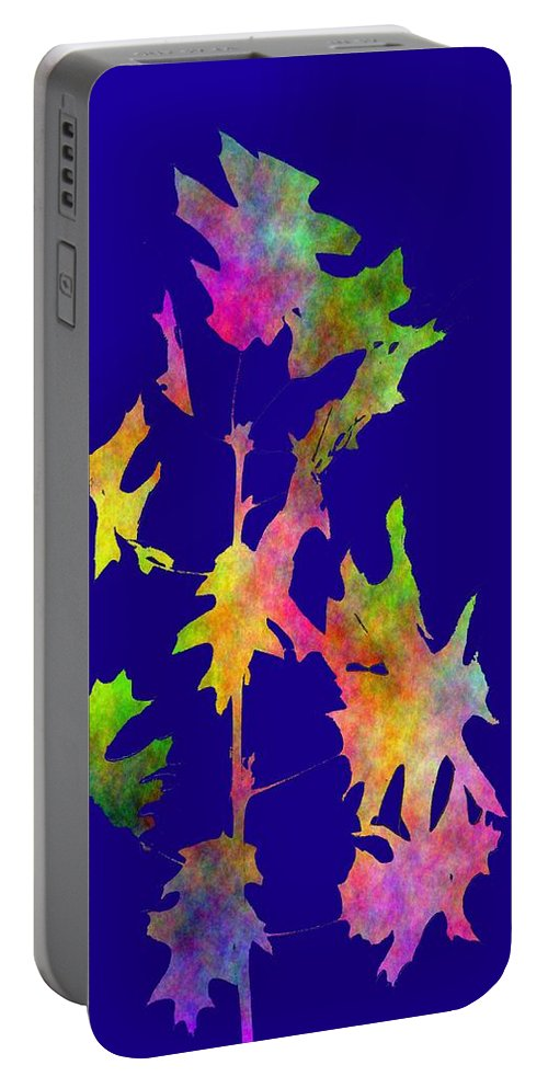 Fall Portable Battery Charger featuring the digital art Blowin In The Wind 8 by Tim Allen
