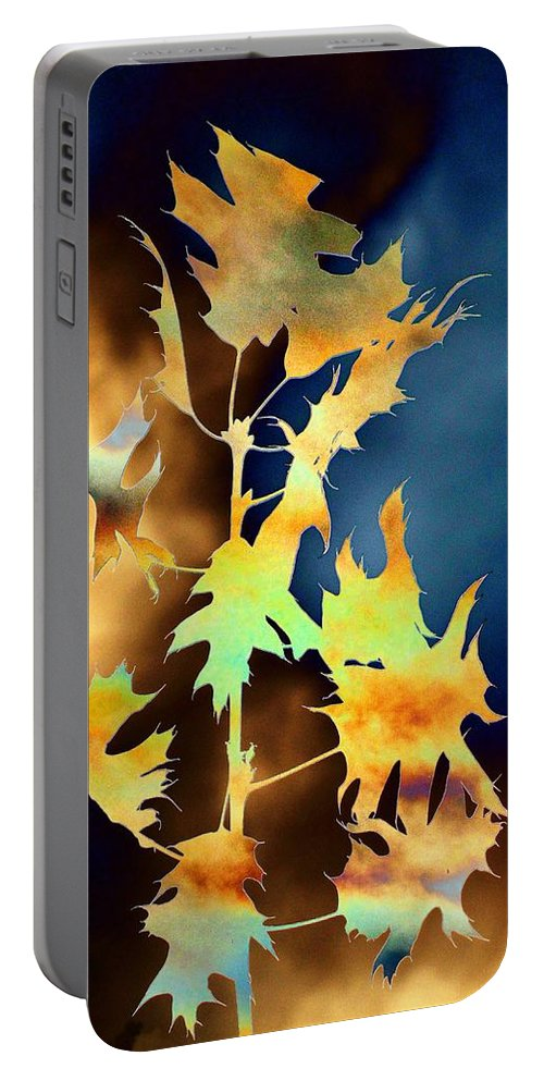Leaves Portable Battery Charger featuring the digital art Blowin In The Wind II by Tim Allen