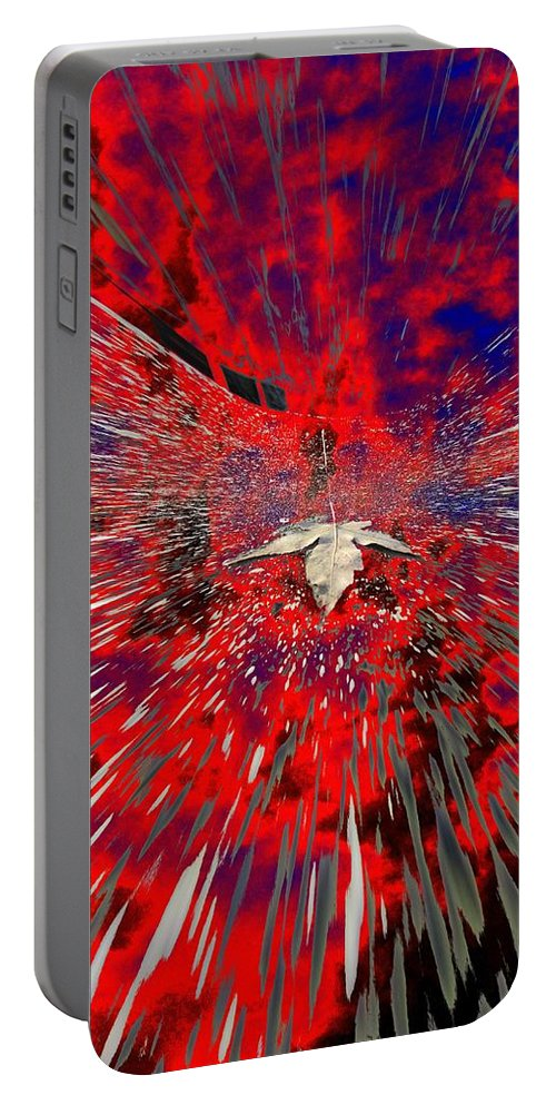 Abstract Portable Battery Charger featuring the digital art Blowin by Tim Allen
