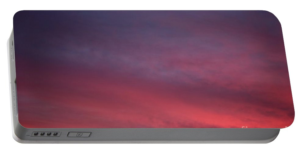 Sunset Portable Battery Charger featuring the photograph Blue And Orange Sunset by Nadine Rippelmeyer