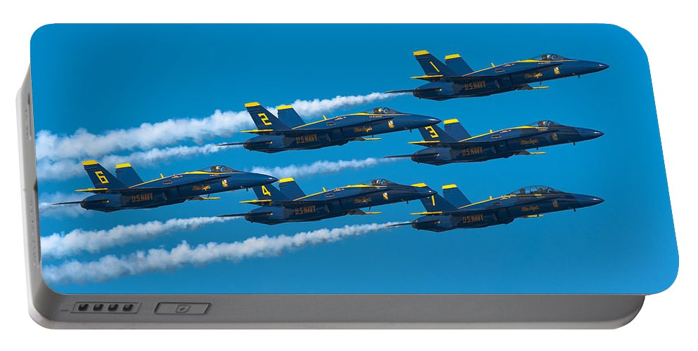 Us Navy Portable Battery Charger featuring the photograph Blue Angels by Sebastian Musial