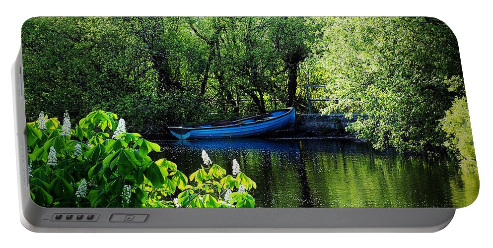 Irish Portable Battery Charger featuring the photograph Blue Boat Cong Ireland by Teresa Mucha