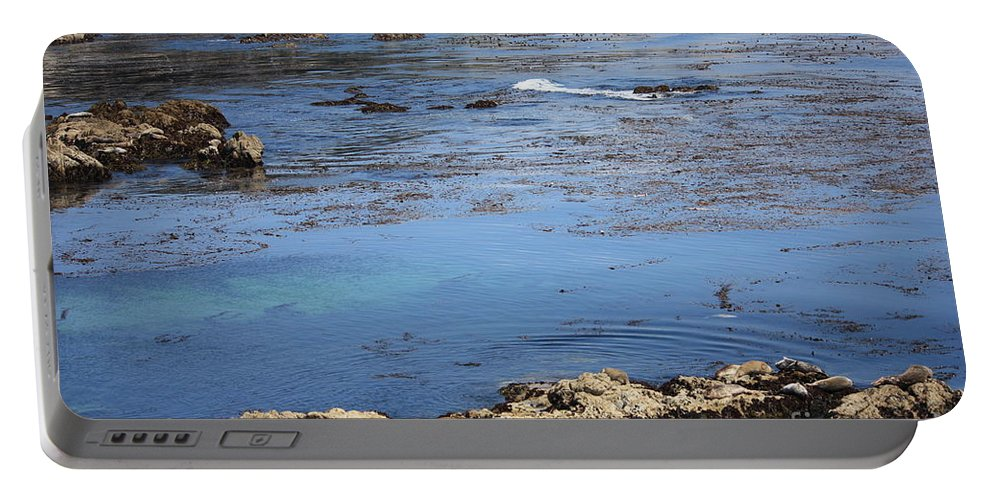 California Portable Battery Charger featuring the photograph Blue California Bay by Carol Groenen
