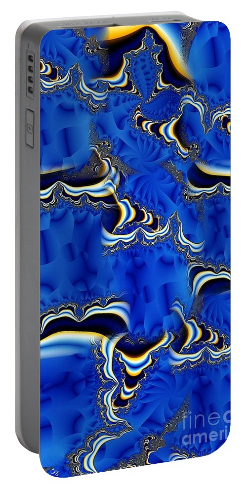 Blue Chifon Portable Battery Charger featuring the digital art Blue Chifon by Ron Bissett
