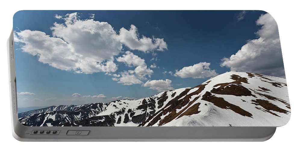 Hiking Portable Battery Charger featuring the photograph Blue Cloudy Sky Over Spring Tatra Mountains, Poland, Europe by Lukasz Szczepanski