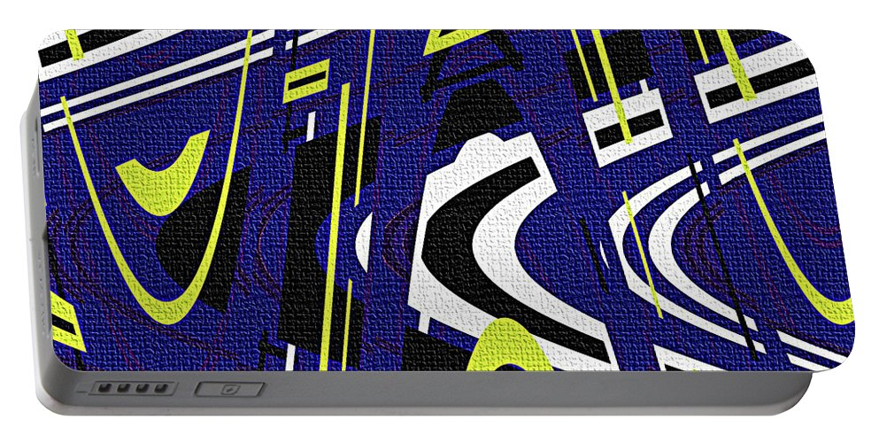 Blue Drawing Abstract Portable Battery Charger featuring the photograph Blue Drawing Abstract by Tom Janca