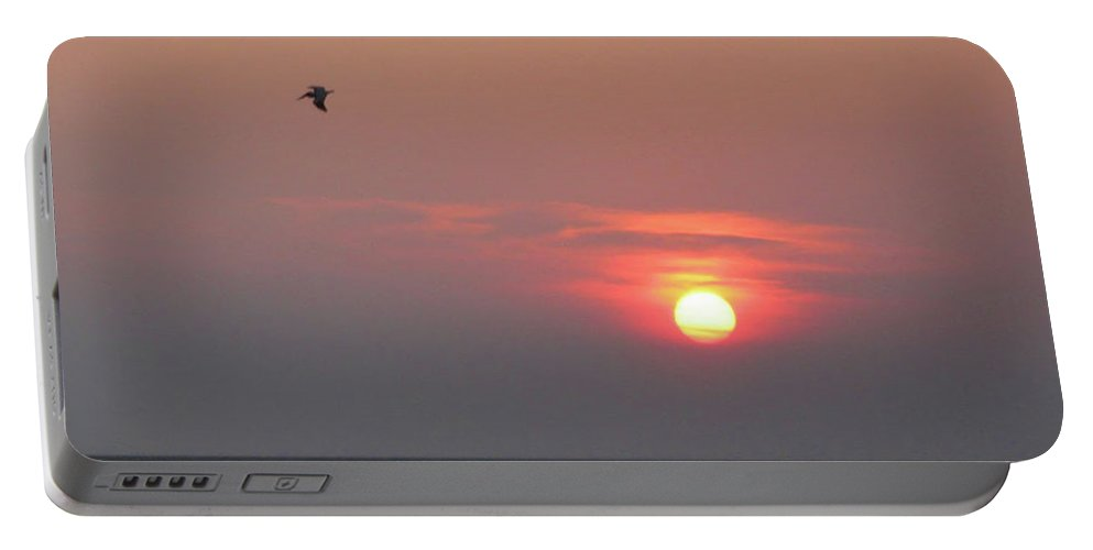 Blue Heron Portable Battery Charger featuring the photograph Blue Heron At Sunset by Bill Cannon