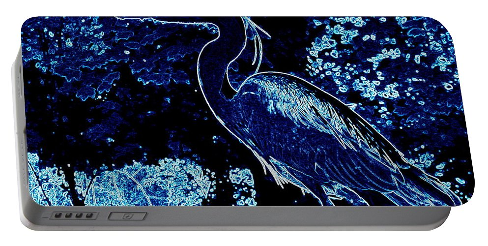 Heron Portable Battery Charger featuring the photograph Blue Heron by James Hill