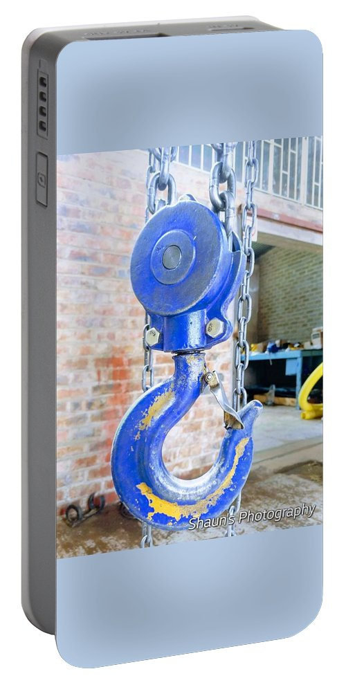 Metal Portable Battery Charger featuring the photograph Blue Hook by Shaun Pretorius