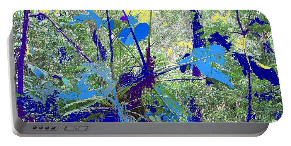 Portable Battery Charger featuring the photograph Blue Jungle by Ian MacDonald