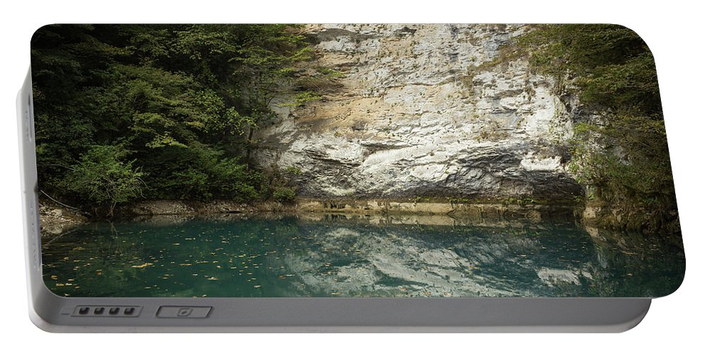 Abkhazia Portable Battery Charger featuring the photograph Blue Lake by Mikhail Maximovskiy