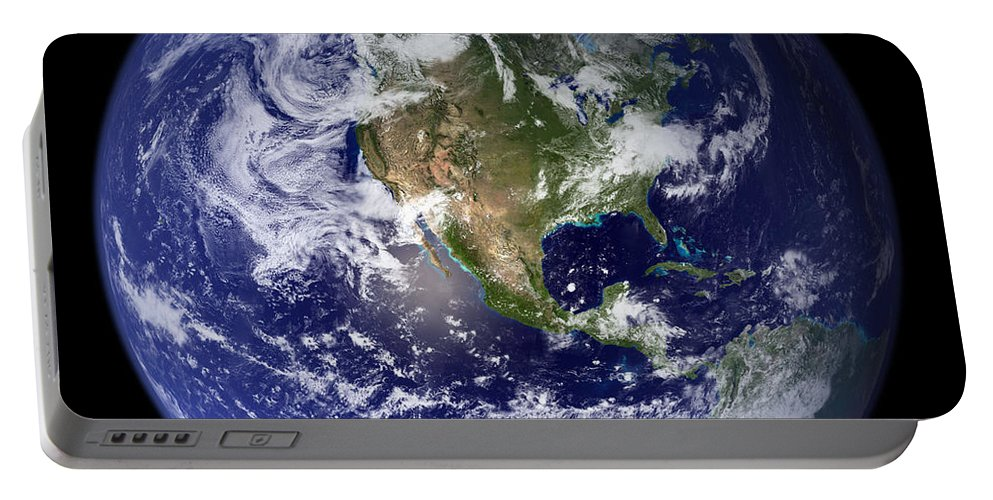 Earth Portable Battery Charger featuring the photograph Blue Marble Earth, North America by Science Source