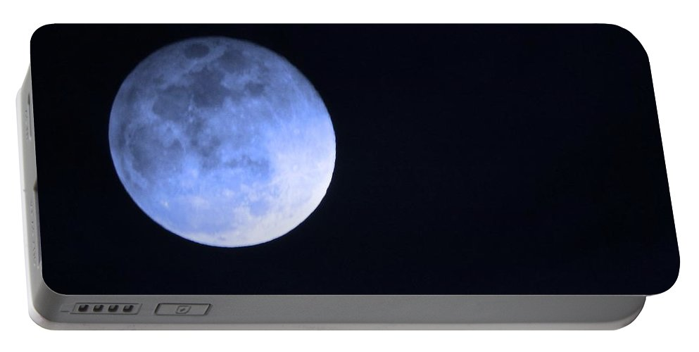 Moon Portable Battery Charger featuring the photograph Blue Moon by Phyllis Kaltenbach