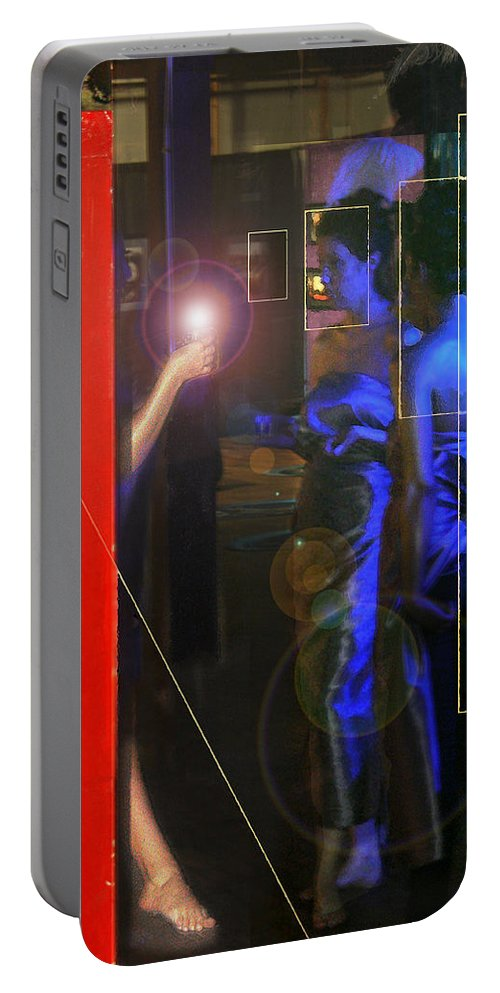Female Figures Portable Battery Charger featuring the photograph Blue Muses by Steve Karol