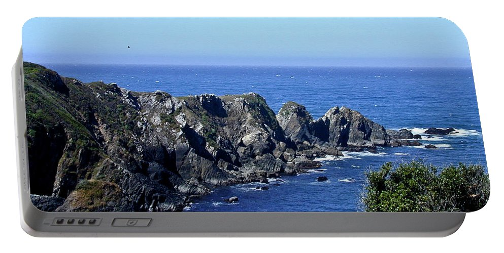 Blue Portable Battery Charger featuring the photograph Blue Pacific by Douglas Barnett