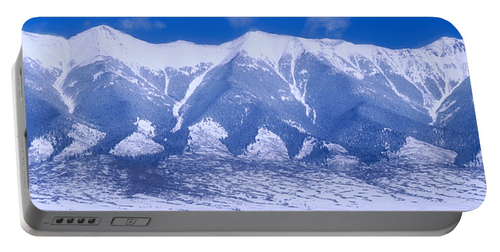 Mountains Portable Battery Charger featuring the photograph Blue Peaks by Jerry McElroy