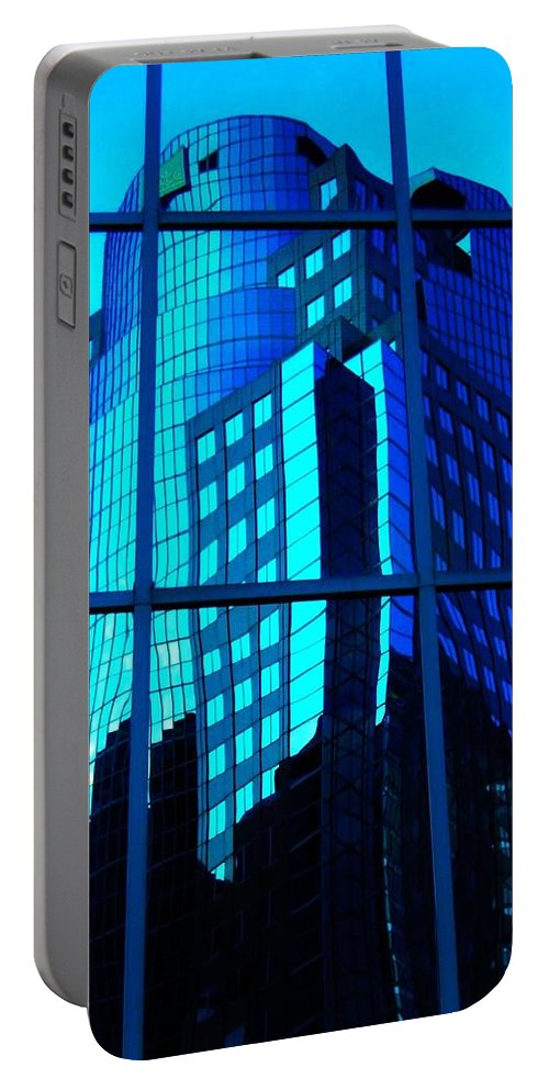 North America Portable Battery Charger featuring the photograph Blue Reflections ... by Juergen Weiss