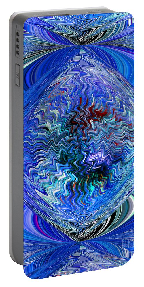 Blues Portable Battery Charger featuring the digital art Blue Reflextions by Michael L McKinley