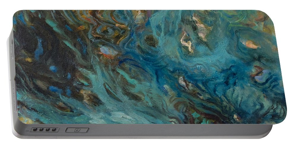 Marine Portable Battery Charger featuring the painting Blue by Rick Nederlof