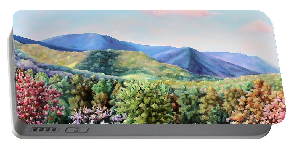 Todd Bandy Portable Battery Charger featuring the painting Blue Ridge Mountains by Todd Bandy