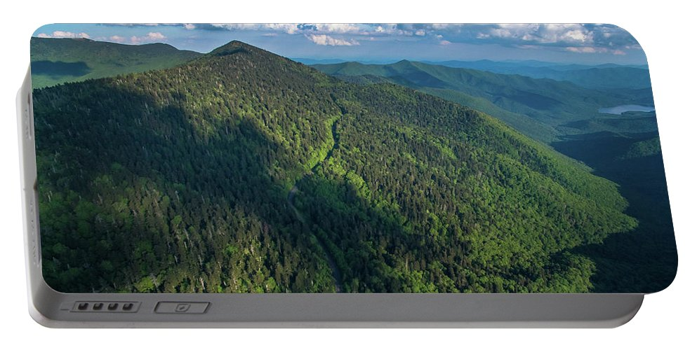 Balsam Gap Portable Battery Charger featuring the photograph Blue Ridge Parkway At Balsam Gap by Ryan Phillips