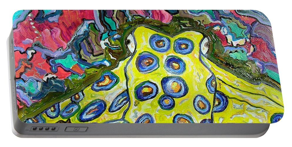 Octopus Portable Battery Charger featuring the painting Blue Ringed Octopus by Heather Lennox
