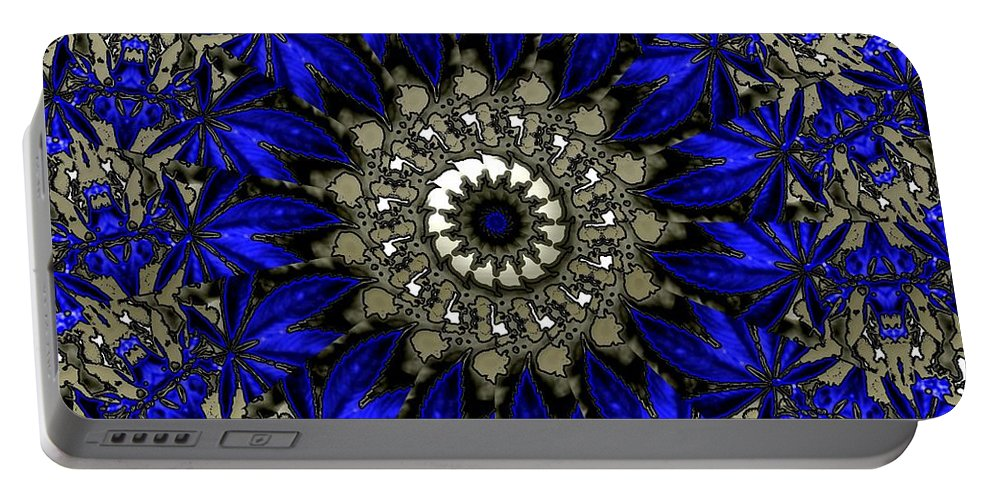 Abstract Portable Battery Charger featuring the digital art Blue by Robert Orinski