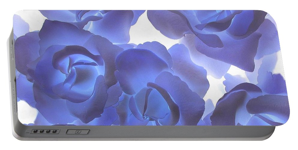 Blue Portable Battery Charger featuring the photograph Blue Roses by Tom Reynen