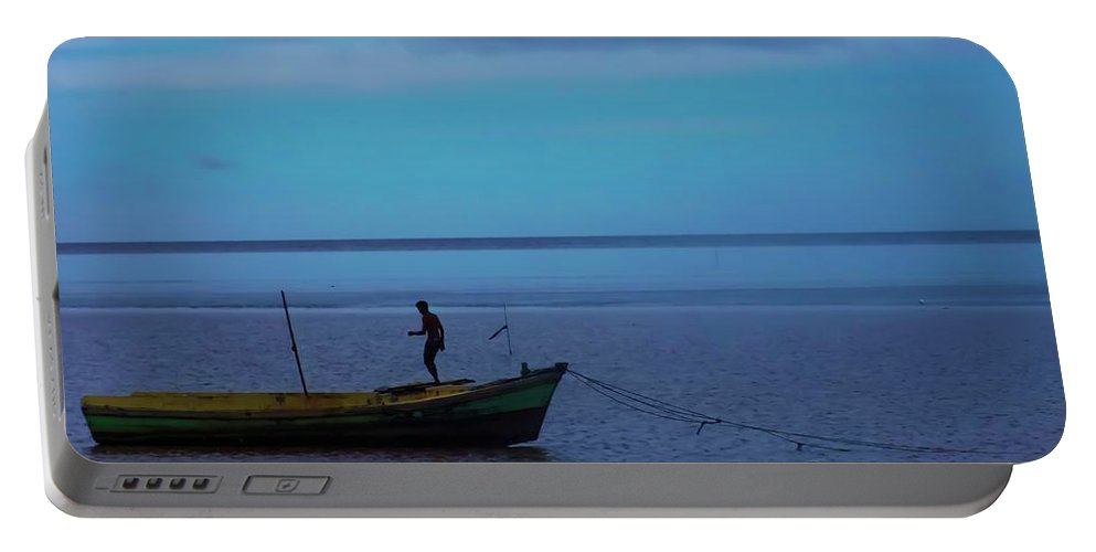 Portable Battery Charger featuring the photograph Blue by Sawan Jagnarain