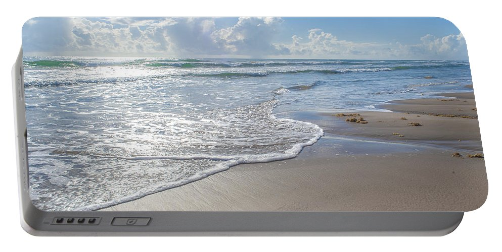Beach Portable Battery Charger featuring the photograph Blue Skies South Padre Island Texas by Gabriel G Medina