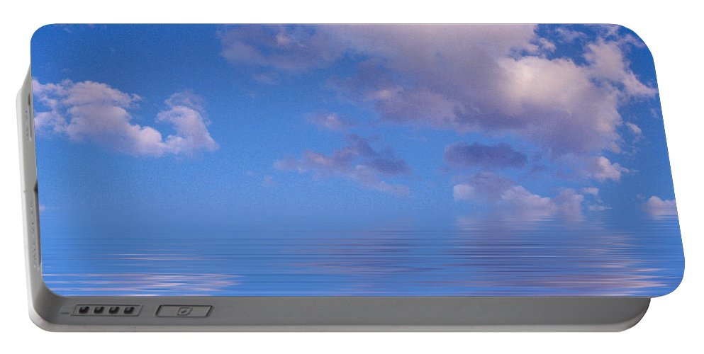 Original Art Portable Battery Charger featuring the photograph Blue Sky Reflections by Jerry McElroy