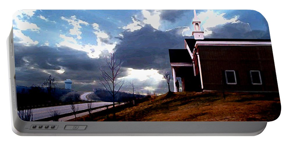 Landscape Portable Battery Charger featuring the photograph Blue Springs Landscape by Steve Karol