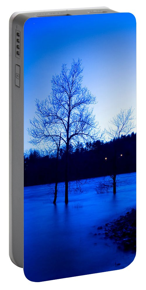Water Portable Battery Charger featuring the photograph Blue Tide by Greg Fortier