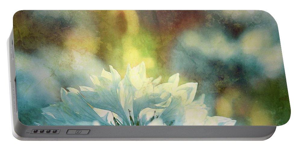 Botanical Portable Battery Charger featuring the photograph Blue Yonder by Debra Cox