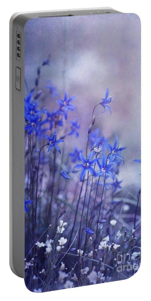 Yukon Bellflower Portable Battery Charger featuring the photograph Bluebell Heaven by Priska Wettstein