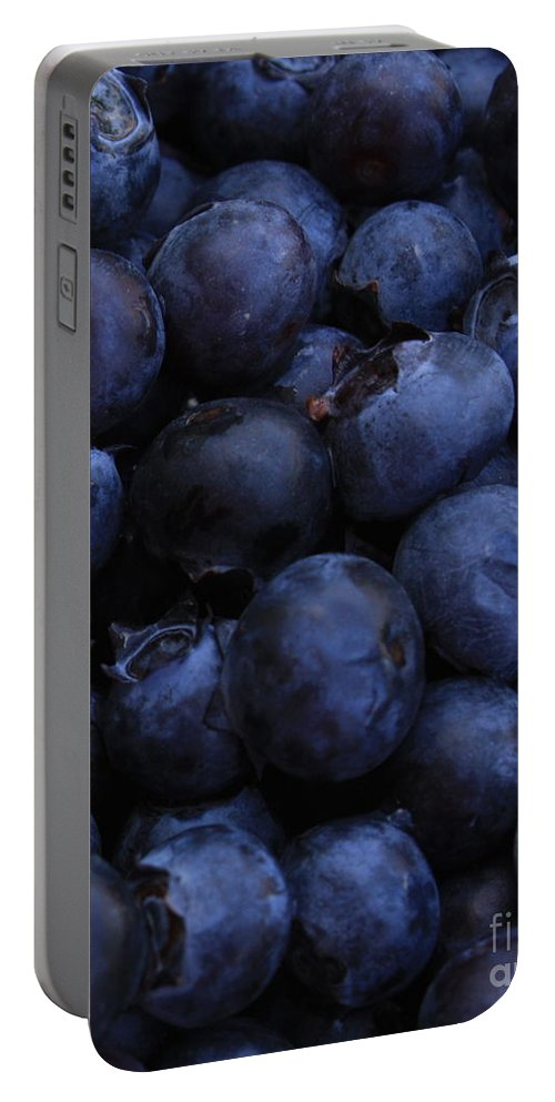 Blueberries Portable Battery Charger featuring the photograph Blueberries Close-up - Vertical by Carol Groenen