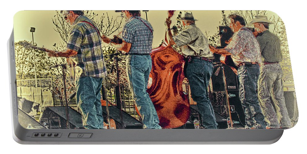 Music Portable Battery Charger featuring the photograph Bluegrass Evening by Robert Frederick