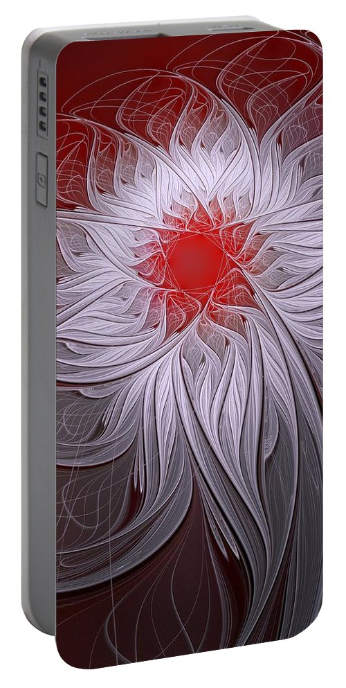 Digital Art Portable Battery Charger featuring the digital art Blush by Amanda Moore