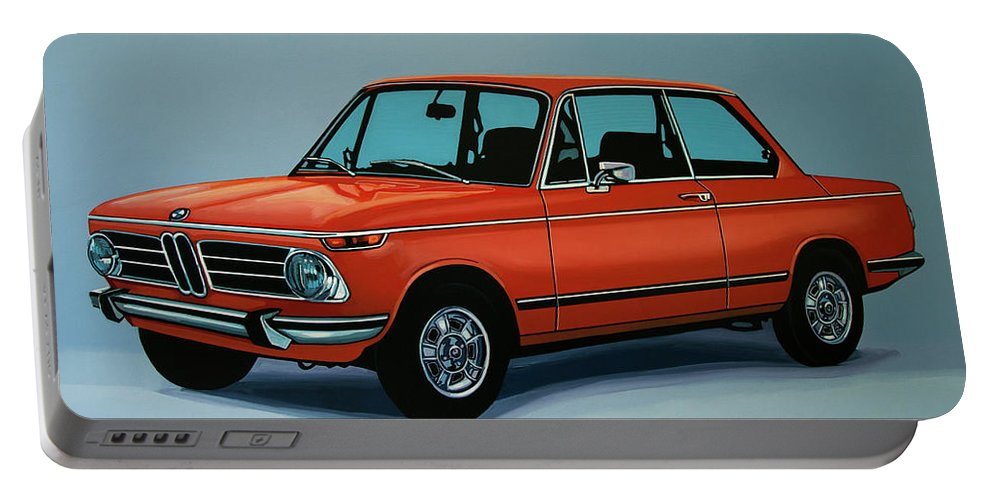 Bmw 2002 Portable Battery Charger featuring the painting Bmw 2002 1968 Painting by Paul Meijering
